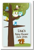 Owl - Look Whooo's Having A Boy - Custom Large Rectangle Baby Shower Sticker/Labels