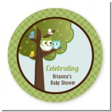 Owl - Look Whooo's Having A Boy - Personalized Baby Shower Table Confetti