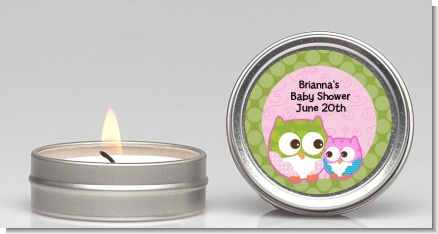 Owl - Look Whooo's Having A Girl - Baby Shower Candle Favors