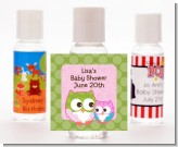 Owl - Look Whooo's Having A Girl - Personalized Baby Shower Hand Sanitizers Favors