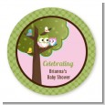Owl - Look Whooo's Having A Girl - Personalized Baby Shower Table Confetti thumbnail