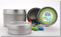 Owl - Look Whooo's Having Twin Boys - Custom Baby Shower Favor Tins