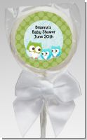 Owl - Look Whooo's Having Twin Boys - Personalized Baby Shower Lollipop Favors