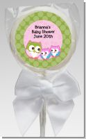 Owl - Look Whooo's Having Twin Girls - Personalized Baby Shower Lollipop Favors