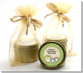 Owl - Look Whooo's Having Twins - Baby Shower Gold Tin Candle Favors