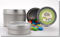 Owl - Look Whooo's Having Twins - Custom Baby Shower Favor Tins