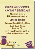 Owl | Look Who's Having a Party - Birthday Party Invitations