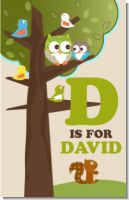 Owl - Look Whooo's Having A Baby - Personalized Baby Shower Nursery Wall Art