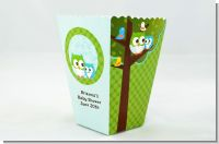 Owl - Look Whooo's Having A Boy - Personalized Baby Shower Popcorn Boxes