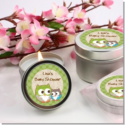 Owl - Birthday Party Candle Favors