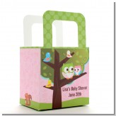 Owl - Look Whooo's Having A Girl - Personalized Baby Shower Favor Boxes