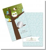 Owl - Look Whooo's Having A Boy - Baby Shower Scratch Off Game Tickets