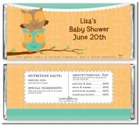 Owls | Gemini Horoscope - Personalized Baby Shower Candy Bar Wrappers