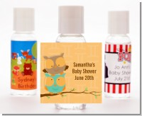 Owls | Gemini Horoscope - Personalized Baby Shower Hand Sanitizers Favors