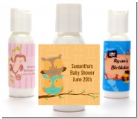 Owls | Gemini Horoscope - Personalized Baby Shower Lotion Favors