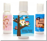 Owl - Winter Theme or Christmas - Personalized Baby Shower Lotion Favors