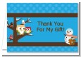 Owl - Winter Theme or Christmas - Baby Shower Thank You Cards thumbnail