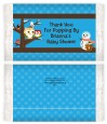 Owl - Winter Theme or Christmas - Personalized Popcorn Wrapper Baby Shower Favors thumbnail