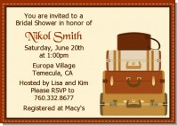 Pack Your Bags Destination - Bridal Shower Invitations