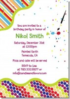 Paint Party - Birthday Party Invitations