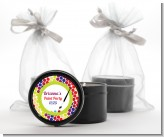 Paint Party - Birthday Party Black Candle Tin Favors