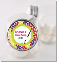 Paint Party - Personalized Birthday Party Candy Jar