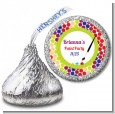 Paint Party - Hershey Kiss Birthday Party Sticker Labels thumbnail