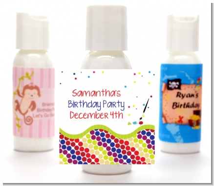 Paint Party - Personalized Birthday Party Lotion Favors