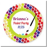 Paint Party - Round Personalized Birthday Party Sticker Labels
