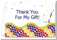 Paint Party - Birthday Party Thank You Cards