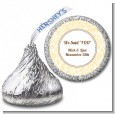 Pale Yellow & Brown - Hershey Kiss Bridal Shower Sticker Labels thumbnail