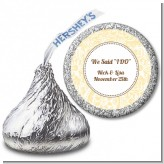Pale Yellow & Brown - Hershey Kiss Bridal Shower Sticker Labels