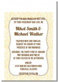Pale Yellow & Brown - Bridal Shower Petite Invitations