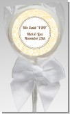 Pale Yellow & Brown - Personalized Bridal Shower Lollipop Favors