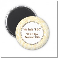 Pale Yellow & Brown - Personalized Bridal Shower Magnet Favors