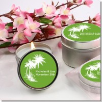 Palm Trees - Bridal | Wedding Candle Favors