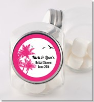 Palm Tree - Personalized Bridal Shower Candy Jar