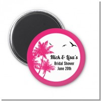 Palm Tree - Personalized Bridal Shower Magnet Favors