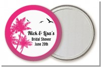 Palm Tree - Personalized Bridal Shower Pocket Mirror Favors