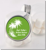 Palm Trees - Personalized Bridal Shower Candy Jar