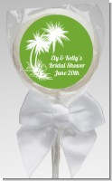 Palm Trees - Personalized Bridal Shower Lollipop Favors