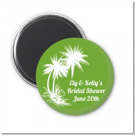 Palm Trees - Personalized Bridal Shower Magnet Favors