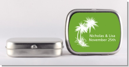 Palm Trees - Personalized Bridal Shower Mint Tins