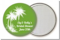 Palm Trees - Personalized Bridal Shower Pocket Mirror Favors