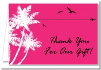 Palm Tree - Bridal Shower Thank You Cards