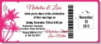 Palm Tree - Bridal Shower Destination Boarding Pass Invitations