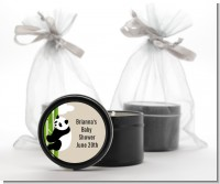 Panda - Baby Shower Black Candle Tin Favors
