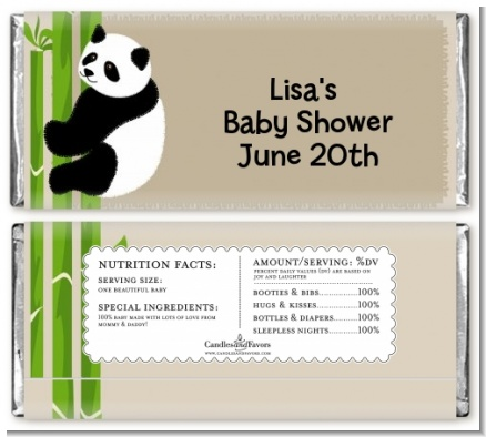 Panda - Personalized Baby Shower Candy Bar Wrappers