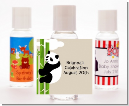 Panda - Personalized Baby Shower Hand Sanitizers Favors