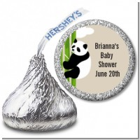 Panda - Hershey Kiss Baby Shower Sticker Labels
